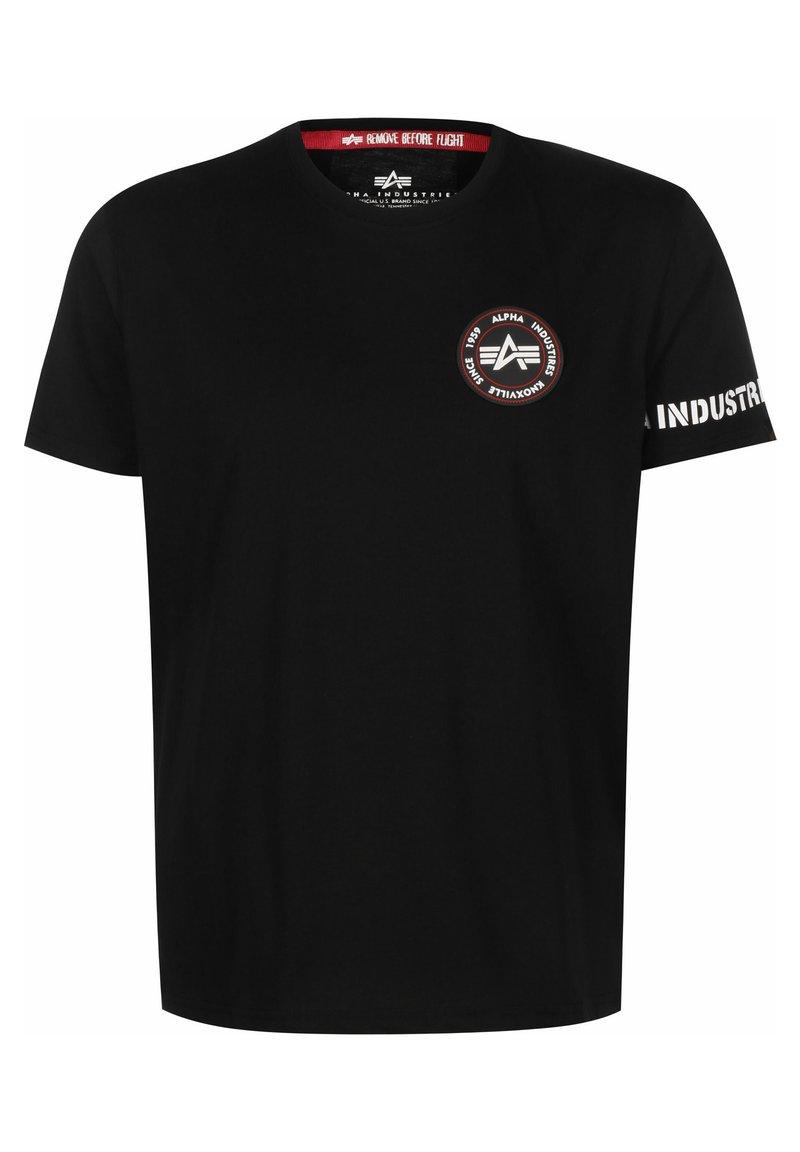 Alpha Industries - T-shirt z nadrukiem - black