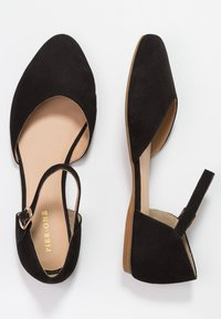 Pier One Wide Fit - Ankle strap ballet pumps - black - 3