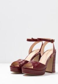 Anna Field - LEATHER HEELED SANDALS - Sandály na vysokém podpatku - bordeaux - 4