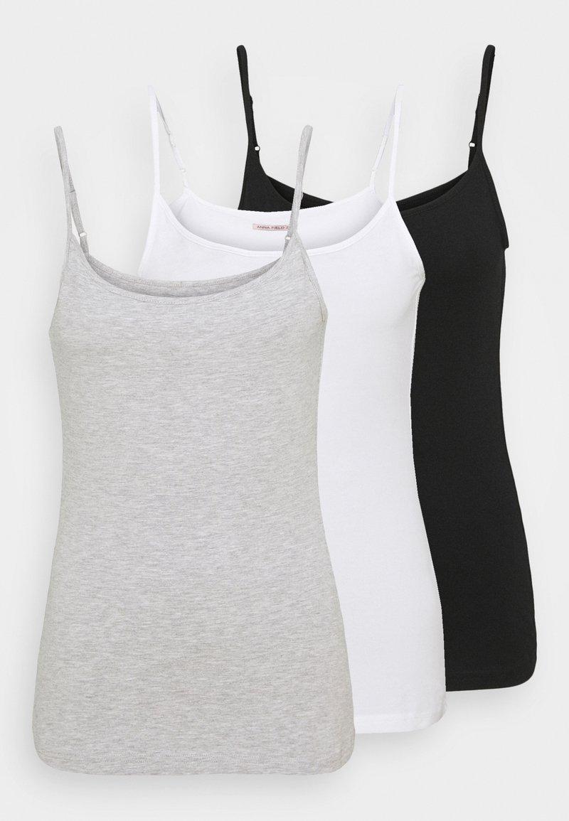 Anna Field Tall - 3 PACK - Toppi - black/white/grey