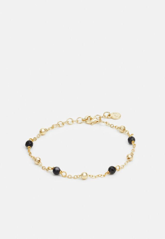 BREY SMALL CHAIN BRACE - Bracciale - gold-coloured/black