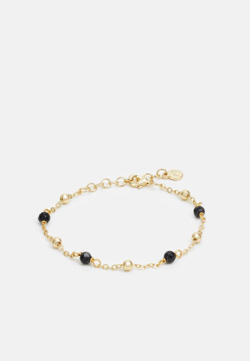 SNÖ of Sweden - BREY SMALL CHAIN BRACE - Bracelet - gold-coloured/black