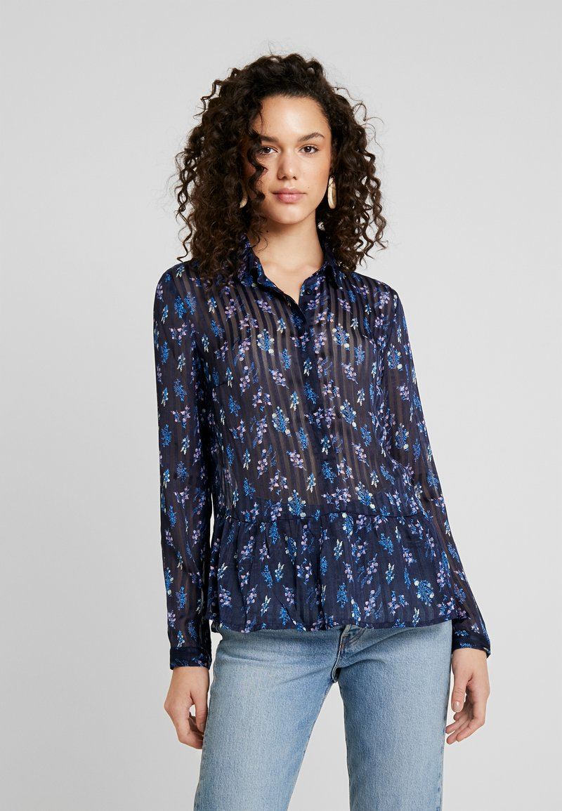 YAS - YASRICHA - Button-down blouse - navy blazer