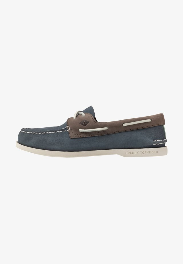 2-EYE PLUSH - Boat shoes - blue/grey