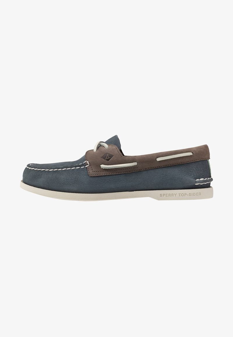 Sperry - 2-EYE PLUSH - Boat shoes - blue/grey