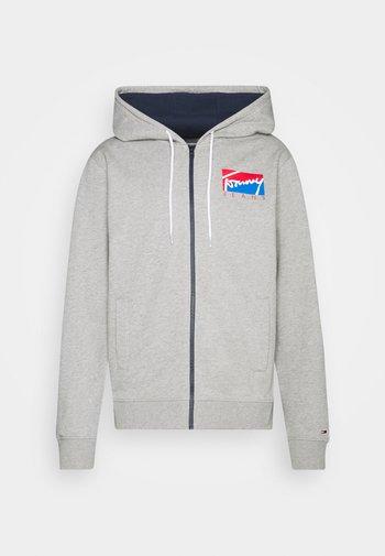 ESSENTIAL ZIP THROUGH - Zip-up sweatshirt - grey