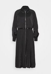 KARL LAGERFELD - TECHNICAL PLEATED - Trenchcoat - black - 0