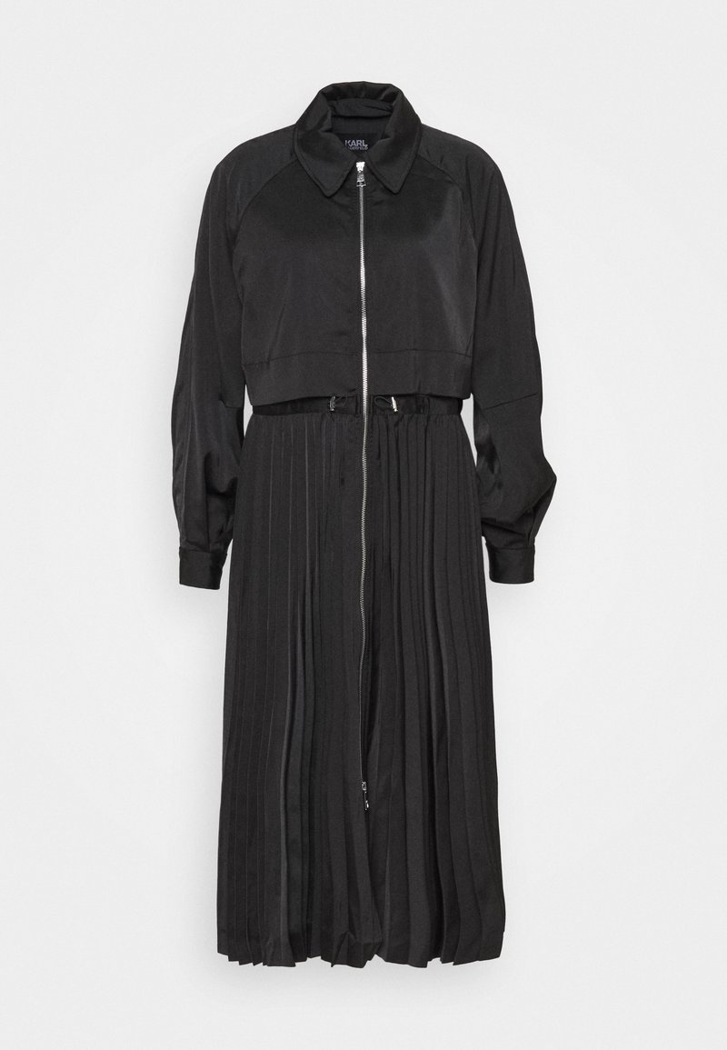 KARL LAGERFELD - TECHNICAL PLEATED - Trenchcoat - black
