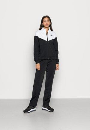 TRACK SUIT SET - Felpa con zip - black/white