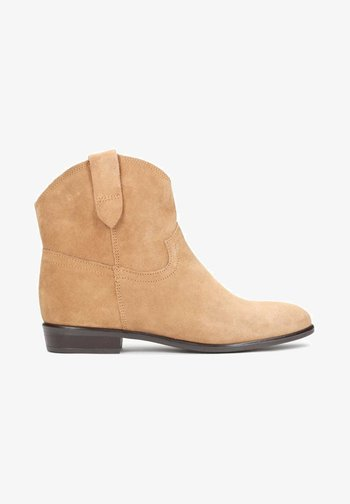 SIMONETTA - Cowboy/biker ankle boot - orange
