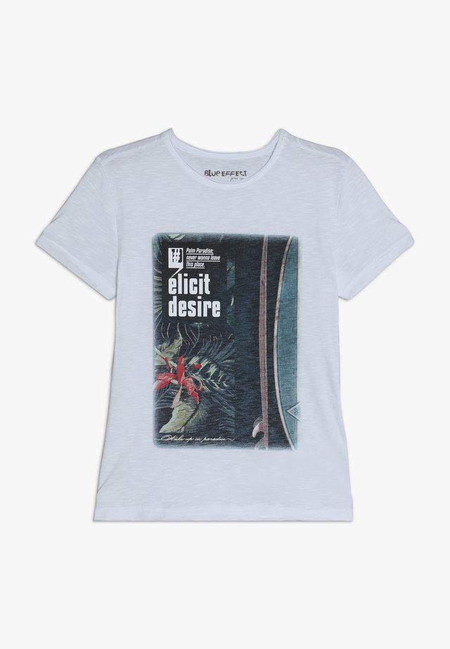 ELICIT DESIR - T-shirt con stampa - schneeweiß reactive