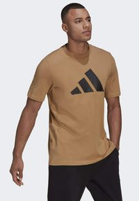 adidas Performance - Print T-shirt - brown - 4