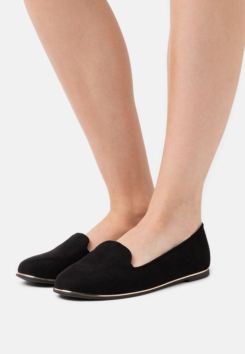 New Look Wide Fit - WIDE FIT JIPE - Mocasines - black
