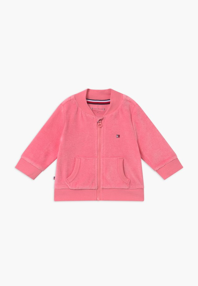 BABY ZIP UP - veste en sweat zippée - pink