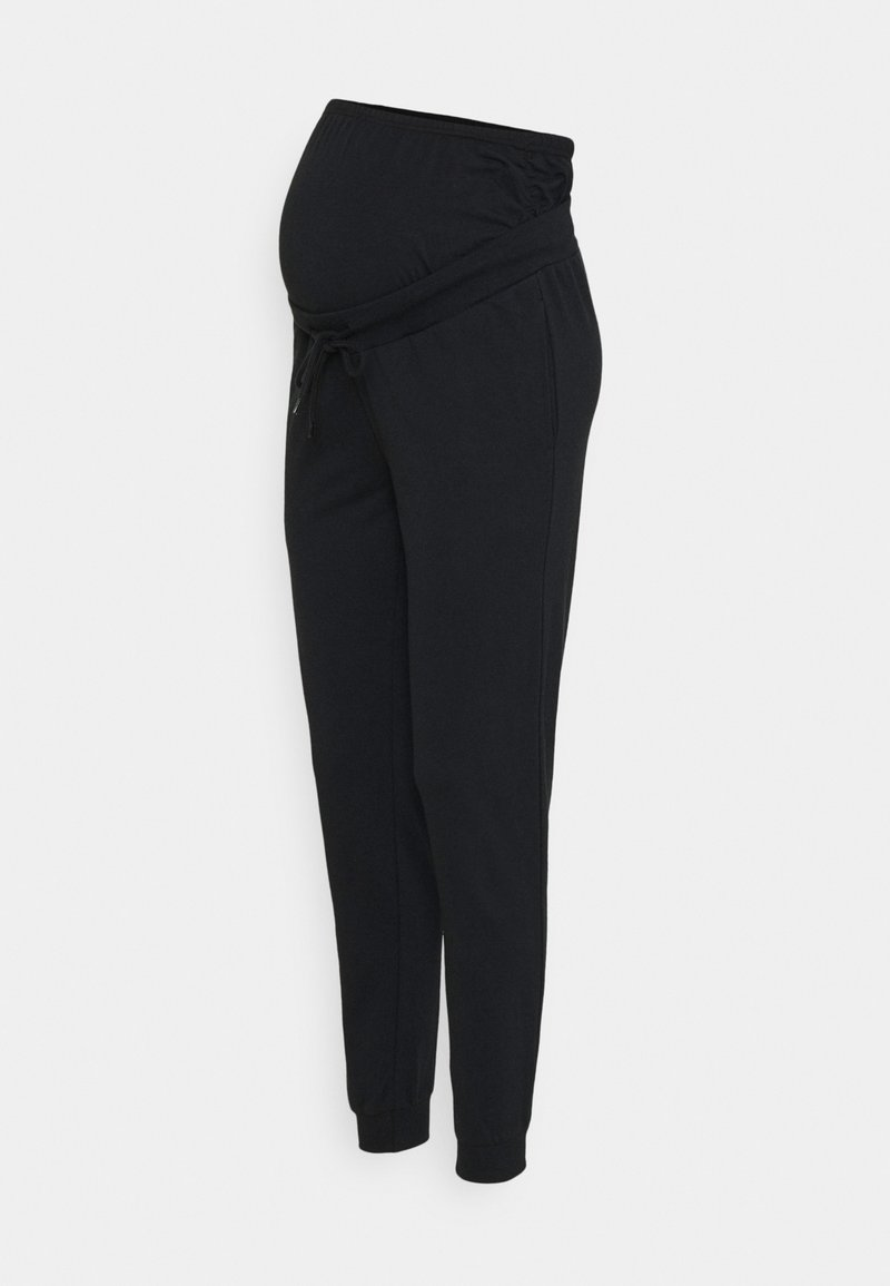 Anna Field MAMA - SLIM FIT JOGGERS - OVERBUMP - Tracksuit bottoms - black