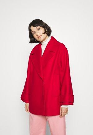 CARLY - Short coat - garnet red