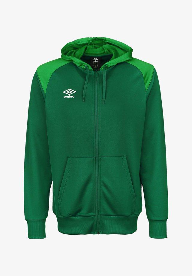 Zip-up hoodie - lush meadows / tw emerald