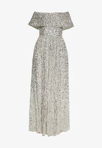 Maya Deluxe - SCATTERED SEQUIN BARDOT MAXI DRESS - Suknia balowa - soft grey - 3