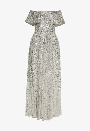 SCATTERED SEQUIN BARDOT MAXI DRESS - Ballkjole - soft grey
