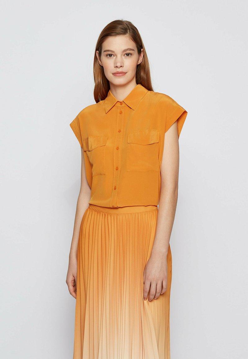 BOSS - Button-down blouse - open yellow