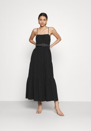 TEIRED DRESS - Maxi dress - black