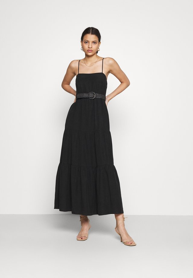 TEIRED DRESS - Vestido largo - black