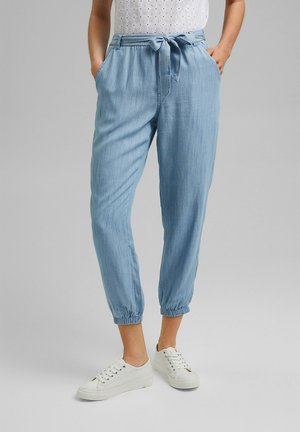 Trousers - blue bleached