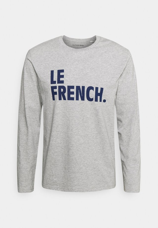 LONGSLEEVE LE FRENCH UNISEX - Maglietta a manica lunga - heather grey