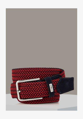Braided belt - fischgrat schwarz
