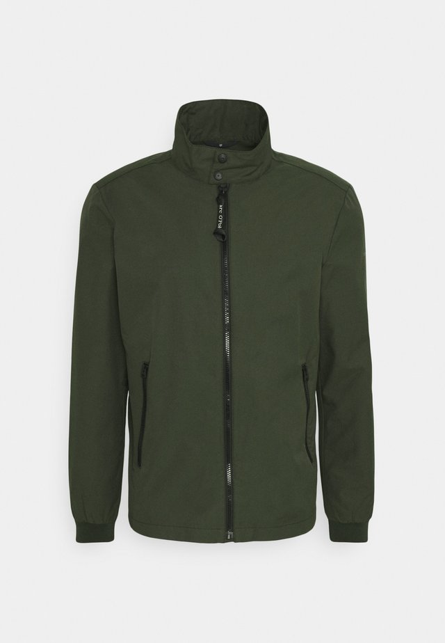 JACKET REGULAR FIT STAND UP COLLAR - Summer jacket - dried herb