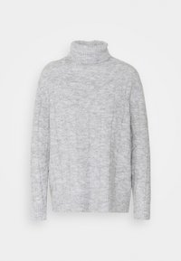 Even&Odd - CABLE LONG LINE - Jersey de punto - mottled light grey - 5