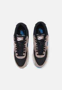 Nike Sportswear - AIR MAX 90 - Sneakers laag - black/blue slate/taupe haze/malt/desert sand/white - 3