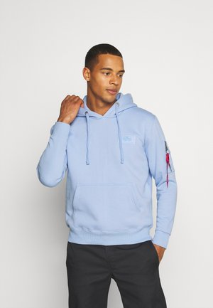 PRINT HOODY - Luvtröja - light blue