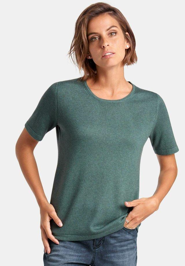 T-shirt basic - green melange