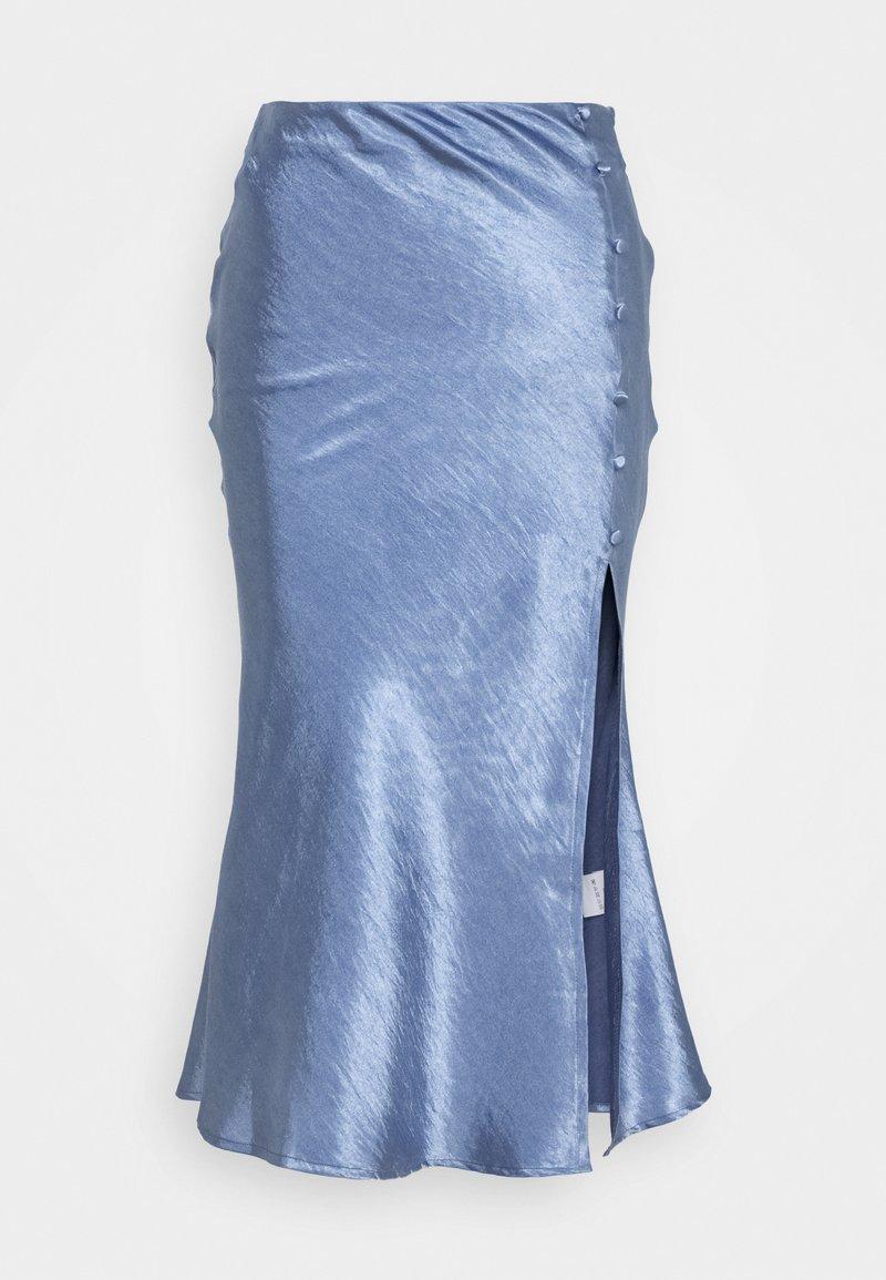 Glamorous - BIAS CUT SKIRT WITH BUTTONS - Pencil skirt - blue