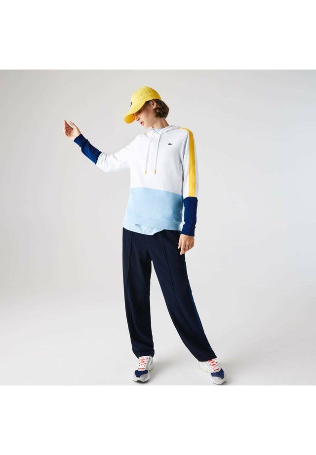 SF2132 - Sweat à capuche - blanc / jaune / bleu / bleu / jaune