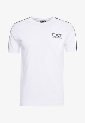 SIDE TAPE - T-shirt con stampa - white
