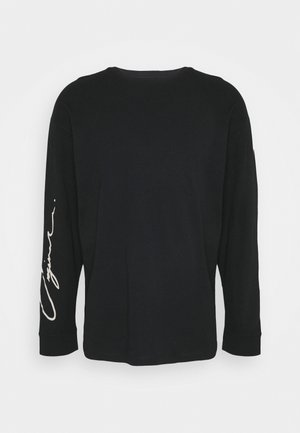 JORSCRIPTT TEE CREW NECK - Långärmad tröja - black
