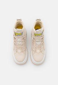 Buffalo - VEGAN ASPHA MID - Platform ankle boots - beige - 5