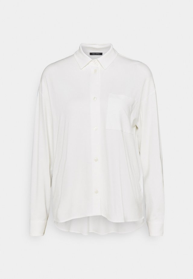 LONG SLEEVE WIDE - Button-down blouse - paper white