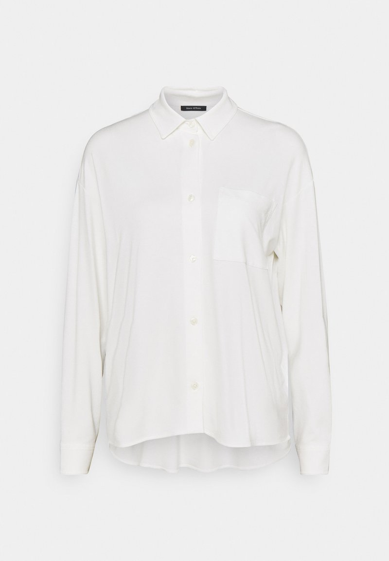 Marc O'Polo - LONG SLEEVE WIDE - Button-down blouse - paper white