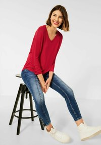 Street One - MIT RAFFUNG - Long sleeved top - rot - 2