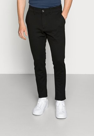 PONTE ROMA PLAIN - Pantalon classique - black