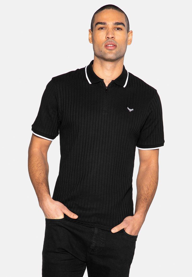 Threadbare - WARD - Polo shirt - black rib