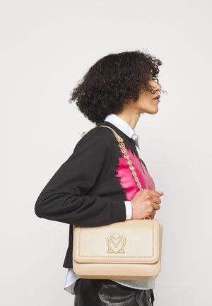 SCARFED SHOULDER BAG - Across body bag - naturale/nude