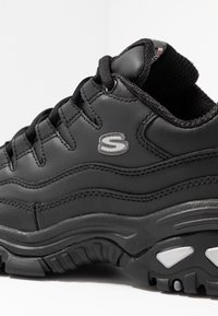 Skechers Wide Fit - WIDE FIT ENERGY - Trainers - black smooth - 2