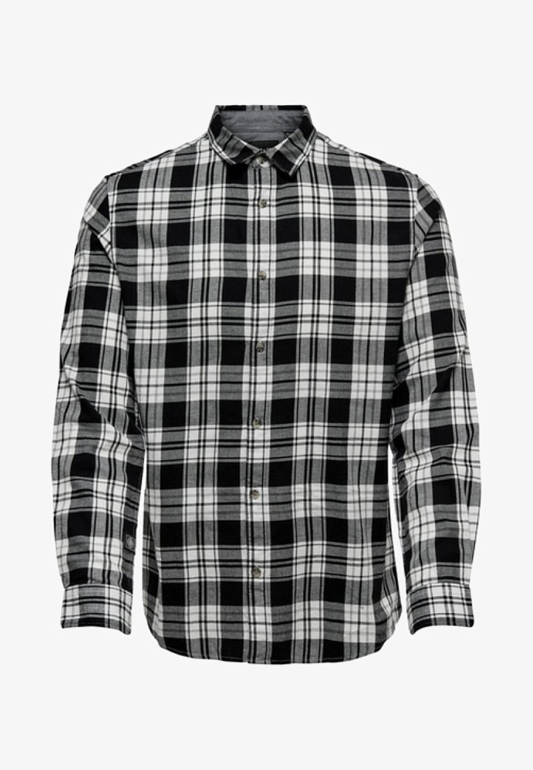 Only & Sons - ONSOMAR CHECKED HERRINGBONE  - Koszula - off-white
