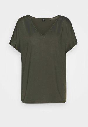 T-shirts print - dark khaki green