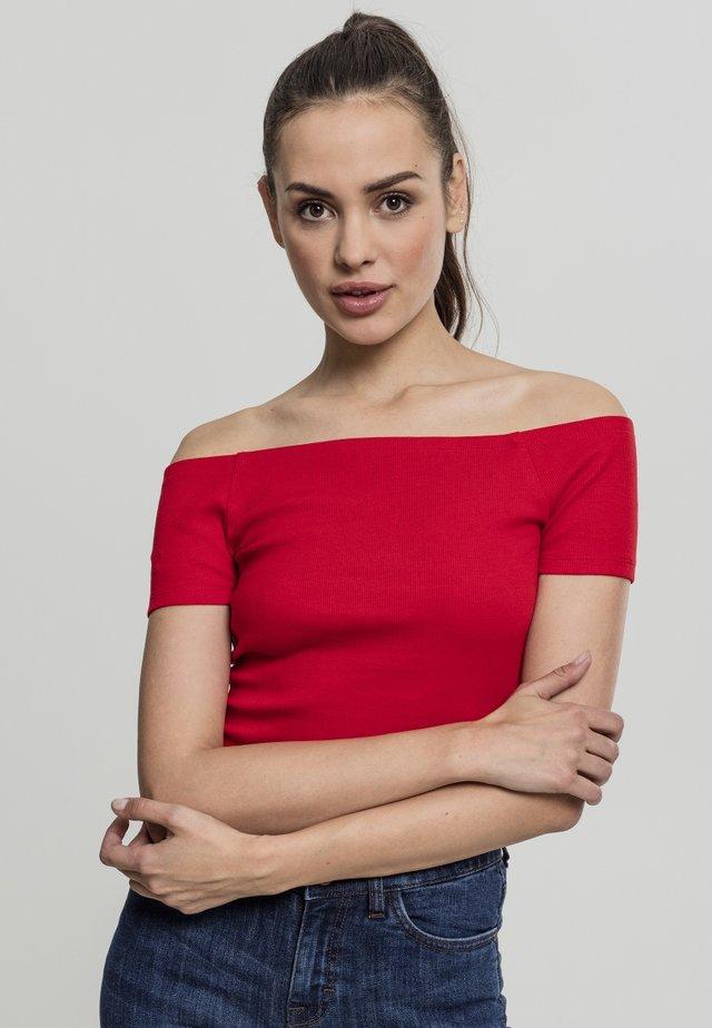 Print T-shirt - fire red