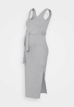 SIDESPLIT DRSS - Maxi dress - grey